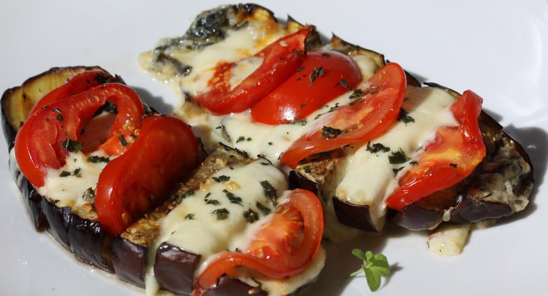 Antipasti aubergine gratin e la mozarella envie de - Cuisiner aubergine a la poele ...