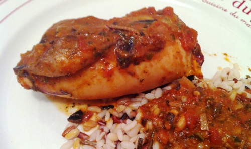 Encornets farcis aux tomates confites et aux olives - Cuisiner des tomates sechees ...