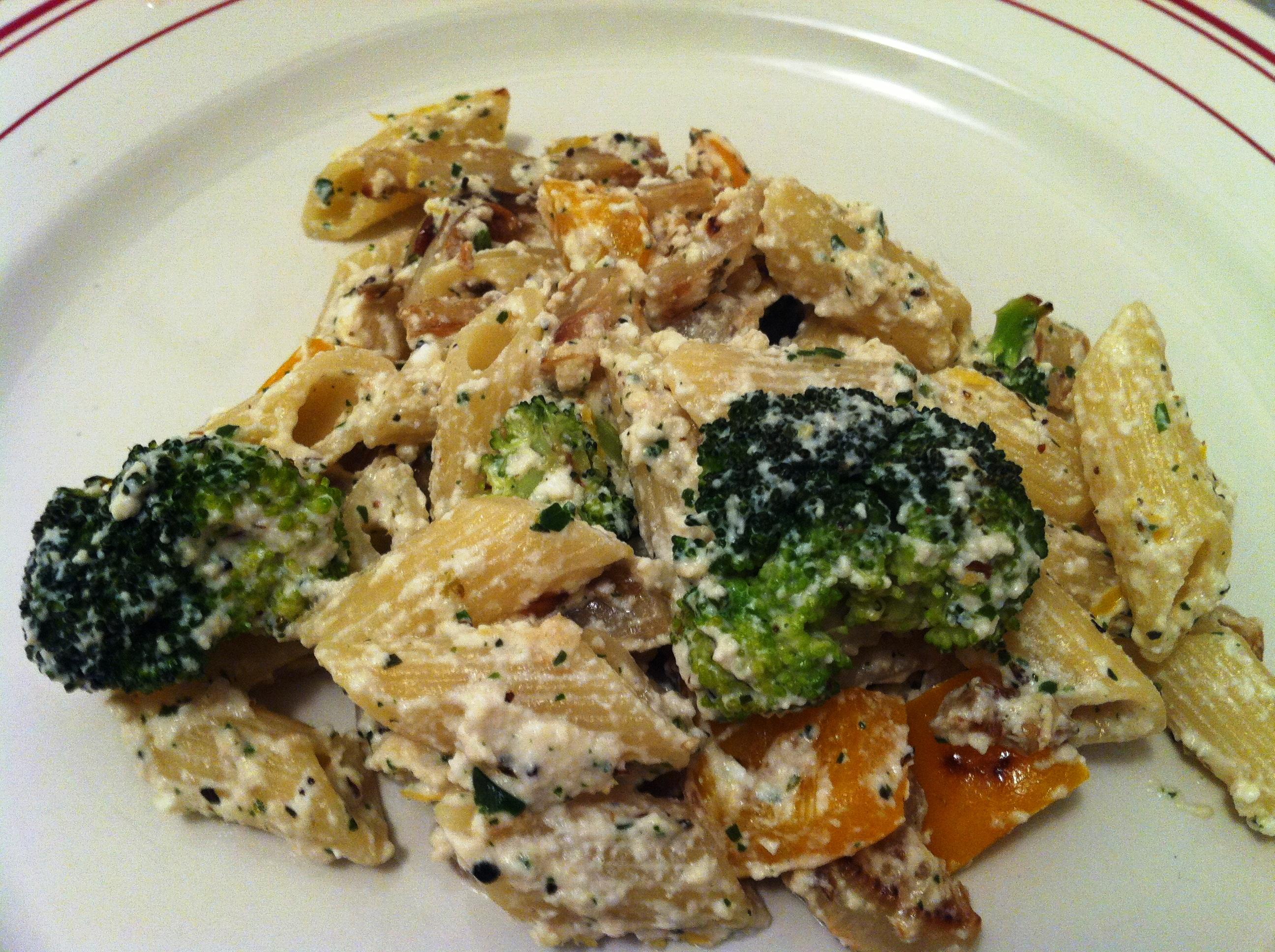 Penne aux l gumes et ricotta envie de cuisiner - Cuisiner brocolis a la poele ...