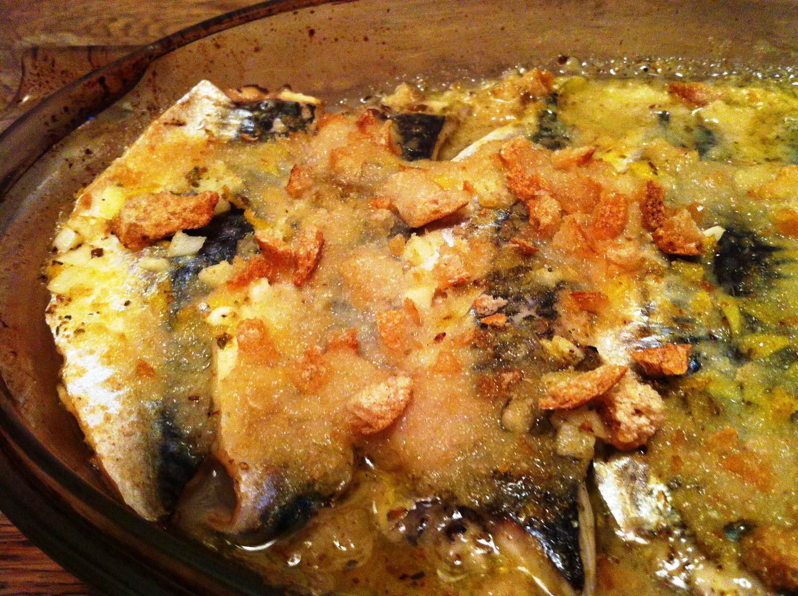 gratin de maquereaux marin s au citron basilic envie de