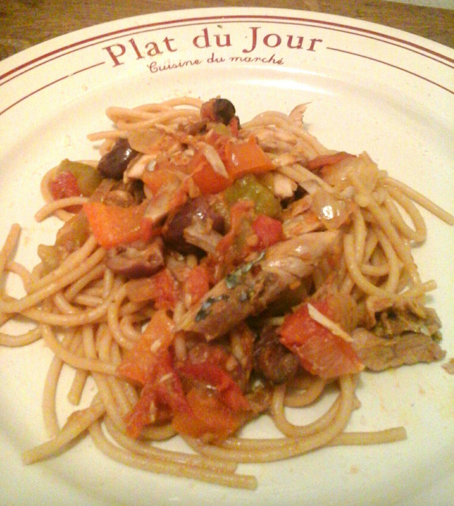 Spaghettis aux maqueraux envie de cuisiner - Cuisiner des maquereaux ...