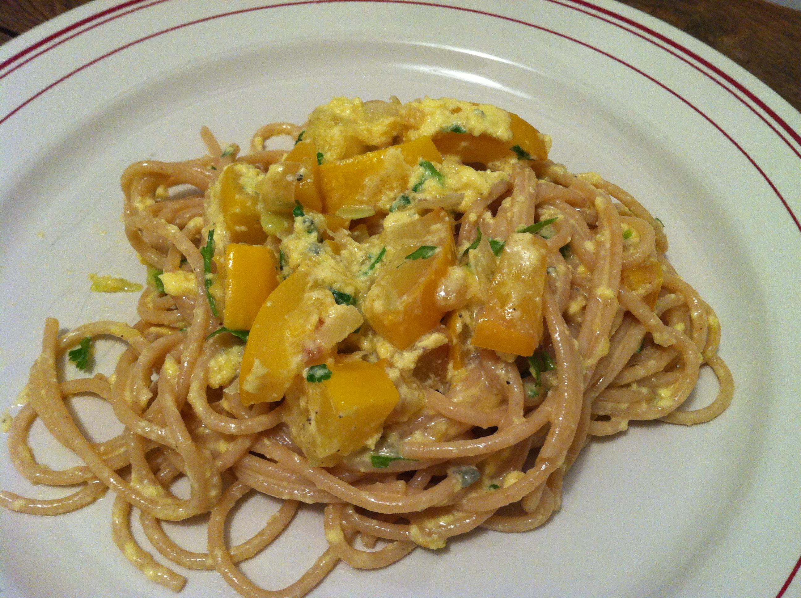 Spaghetti courgettes la carbonara envie de cuisiner - Cuisiner courgette spaghetti ...