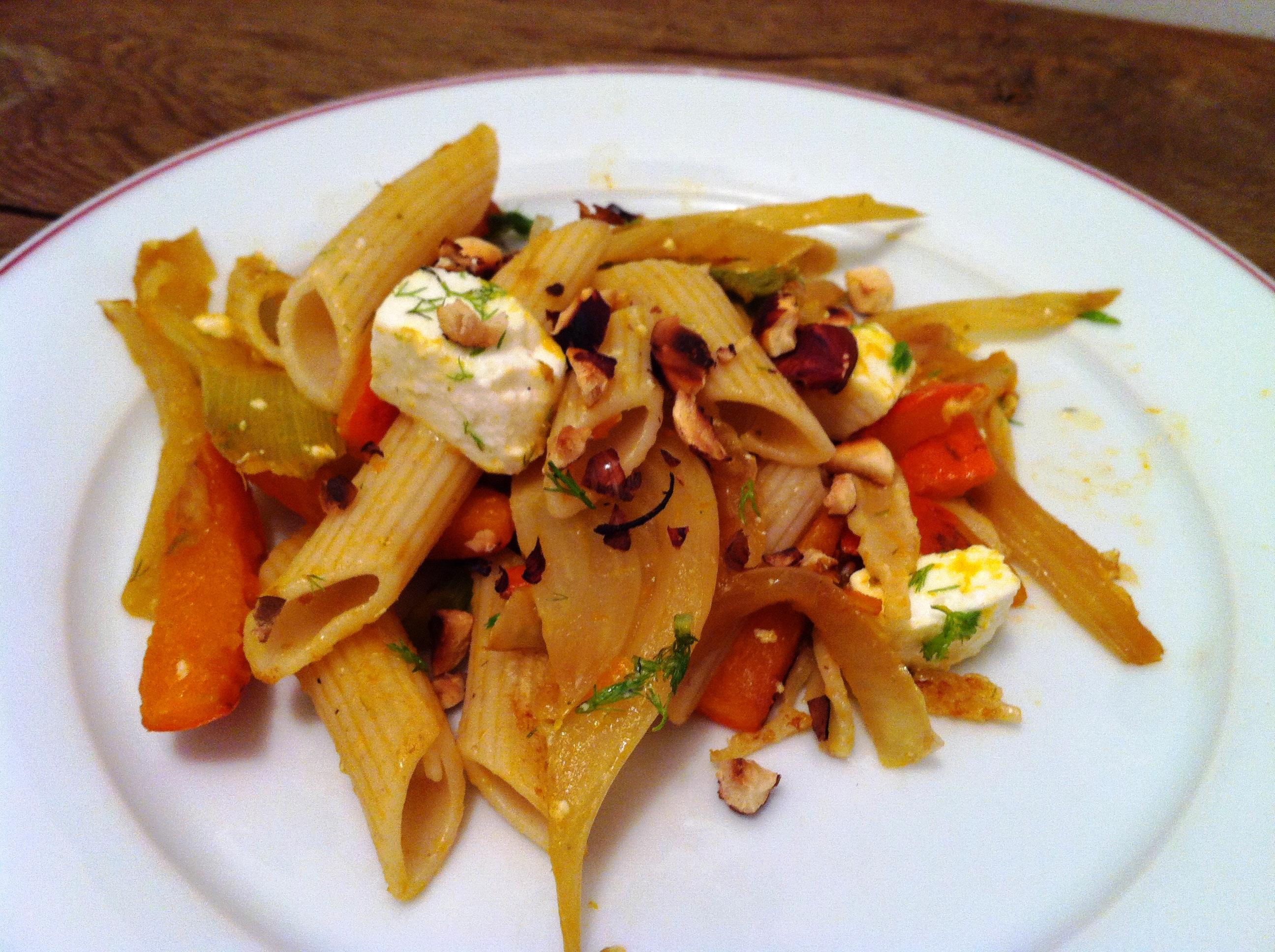 Pennes potiron fenouil et la feta envie de cuisiner - Cuisiner les champignons de paris a la poele ...