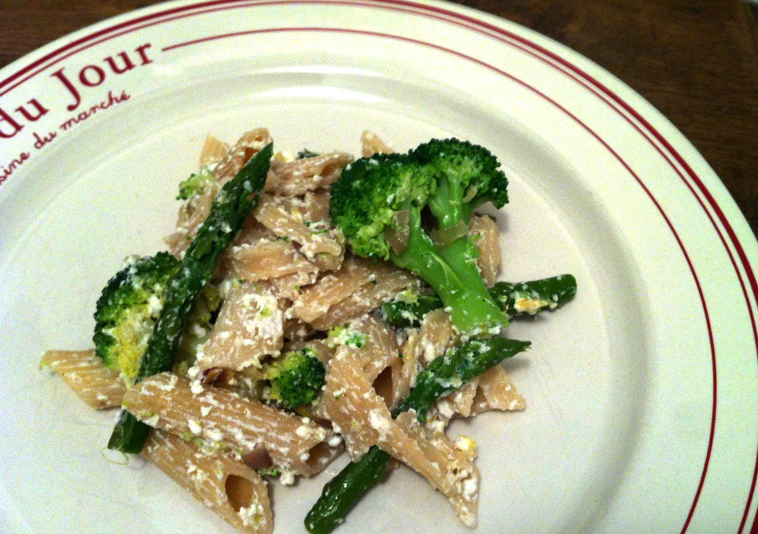 Penne au brocoli asperge et ricotta envie de cuisiner - Cuisiner des asperges fraiches ...