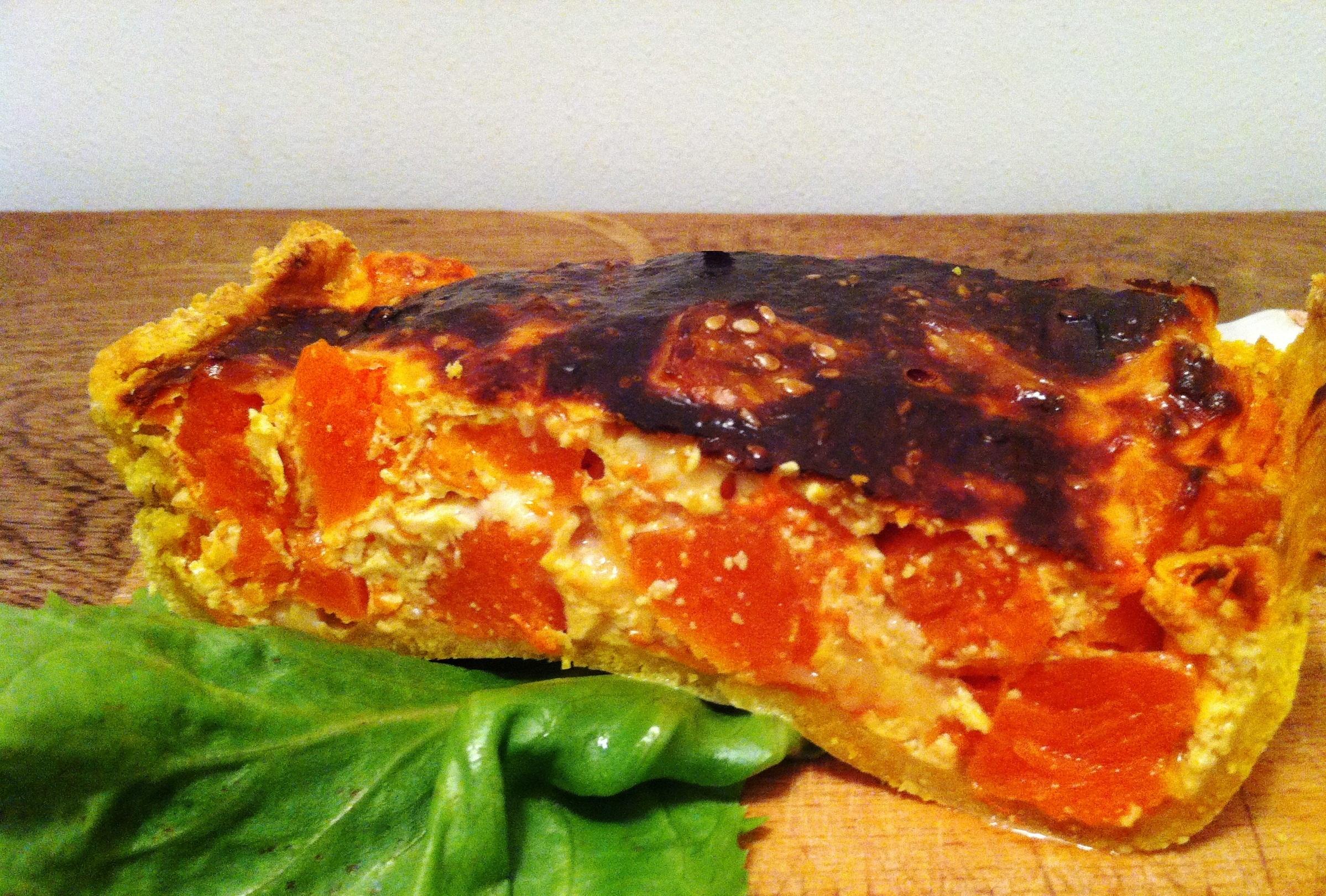 Tarte la polenta au potimarron et ch vre envie de - Cuisiner pour une personne ...