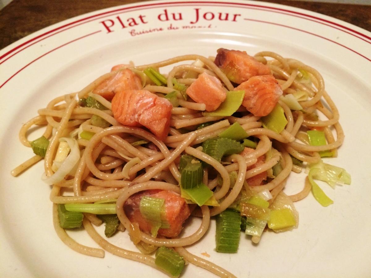 Spaghettis au saumon fum envie de cuisiner - Comment cuisiner le coeur de boeuf en tranche ...