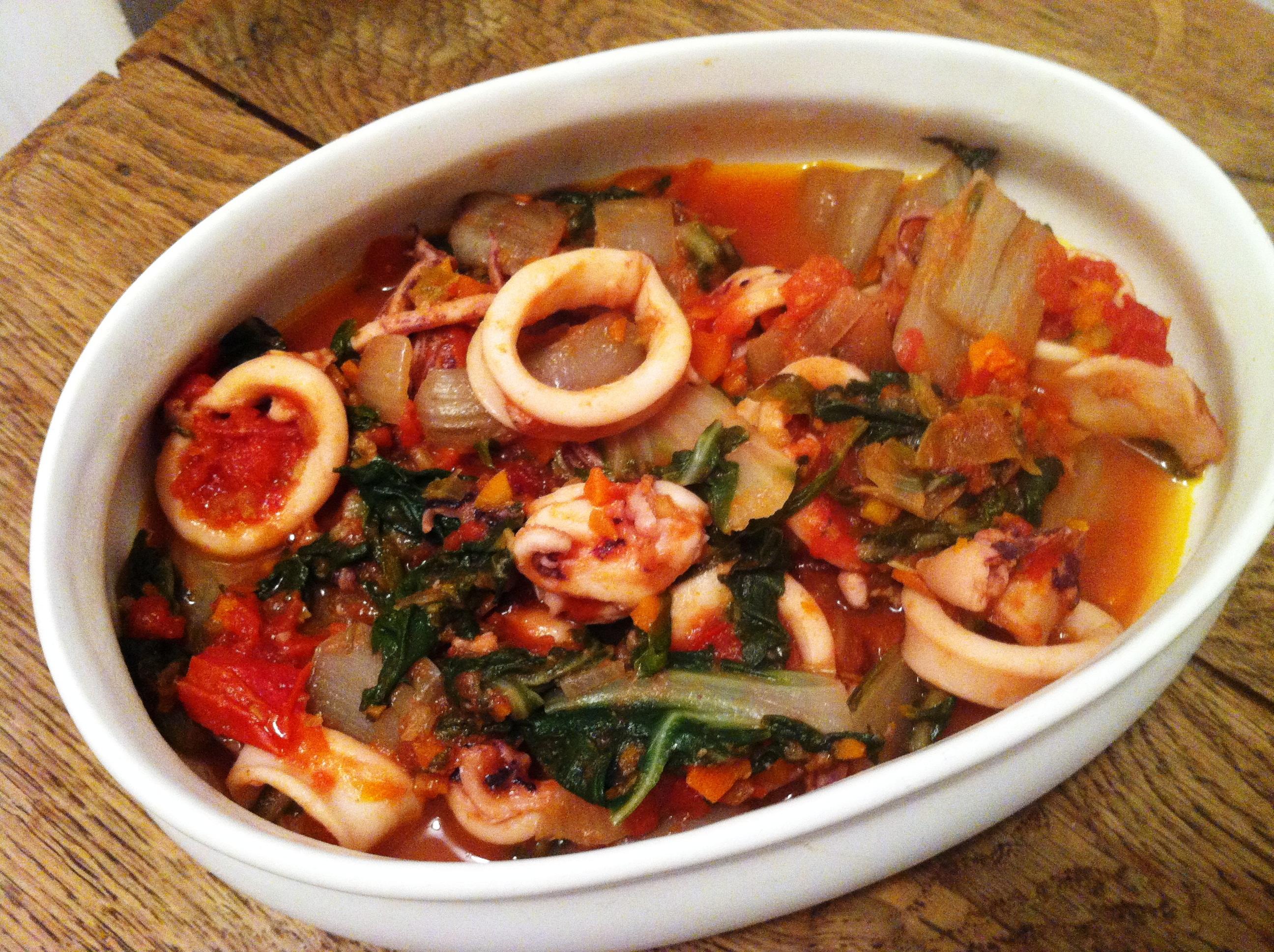 Rago t d encornets aux bettes envie de cuisiner - Cuisiner des encornets ...