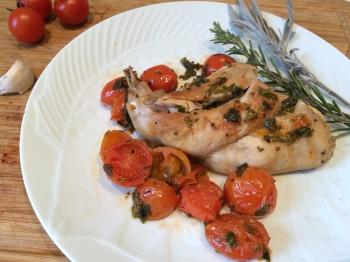 lapin à la compotée d'aubergines – envie de cuisiner