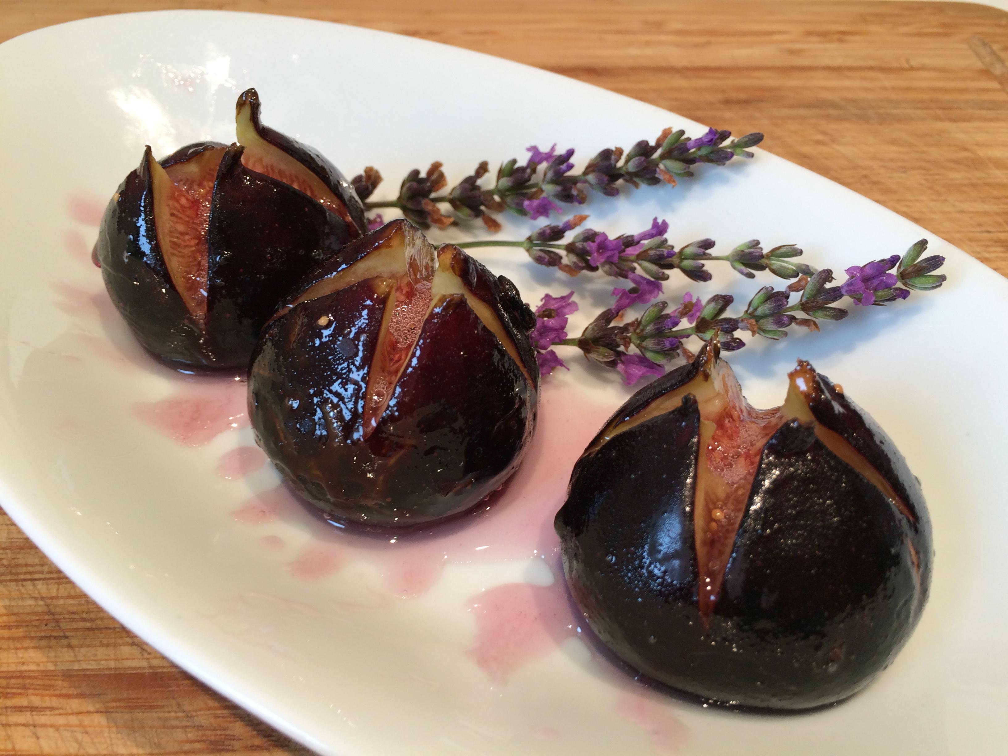 Figues chaudes confites lavande envie de cuisiner - Cuisiner des figues fraiches ...
